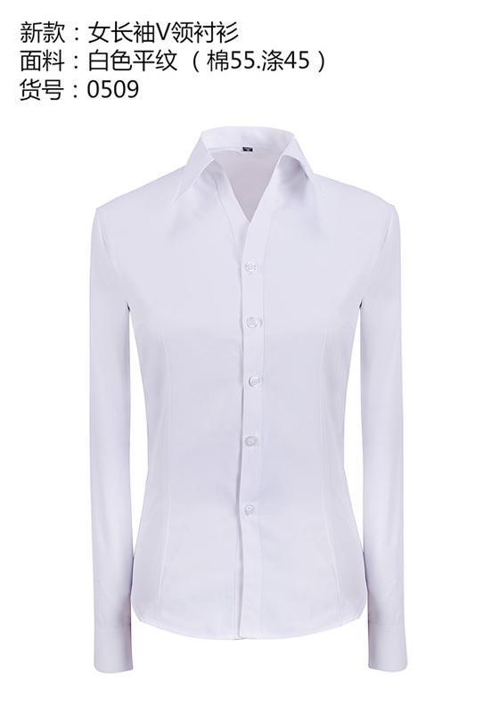 商务长袖衬衫