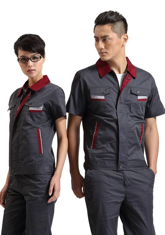 夏季短袖工作服定制生产
